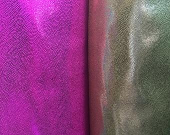 4 way stretch foggy foil or mistique  nylon spandex fabric by the yard