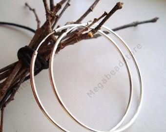 40mm Endless Hoop Earring 925 Sterling Silver F336- 2 pcs