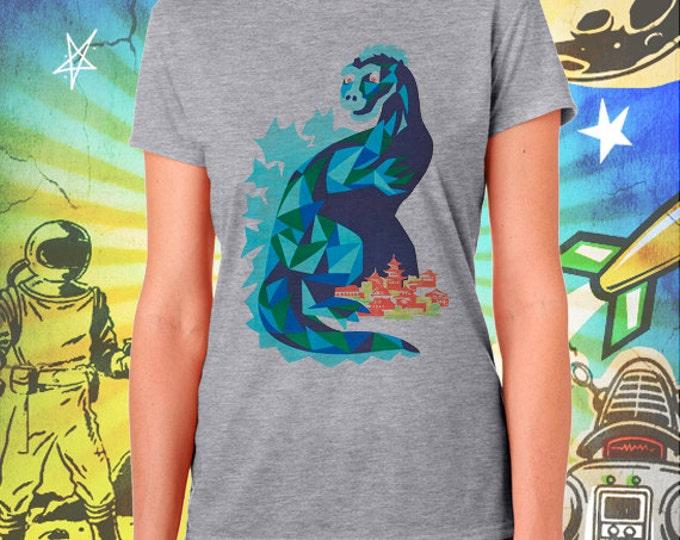 Godzilla / Polish Poster / Women's Gray Performance T-Shirt