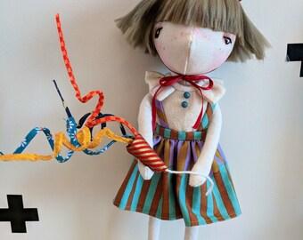 Sadie- handmade doll, art doll, ooak doll, doll