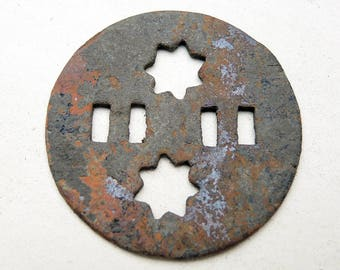 Antique Huge Brass Button - Archaeological Finds - b24