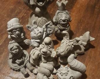 Alice in Wonderland Set 1&2 Concrete Sculptures, Statues, Figurines