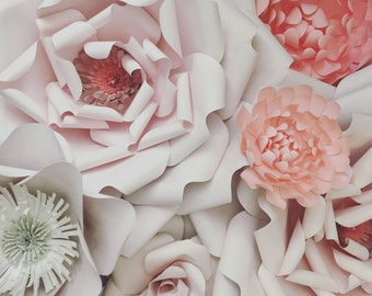 7 Paper Flower Wall Decoration