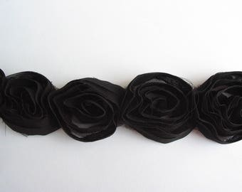 Black Pink Ribbon on black-ref C1 tulle veil