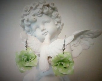 Earrings origami with intentions and angelic - Les Roses - paper Origami energies