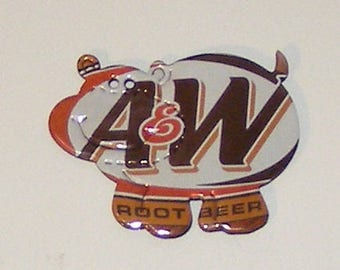 Hippo Magnet - A&W ROOT BEER Soda Can