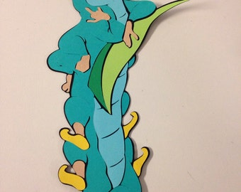 Caterpillar from Alice in Wonderland die cut