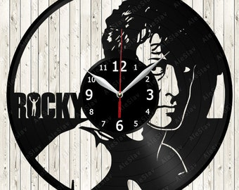 Rocky Vinyl Record Wall Clock Handmade Art Decor Your Room Original Gift 1559