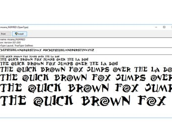 Moana Version 1 Font True Type. To install and write