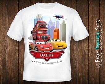 Cars birthday shirt, Cars birthday shirt iron on, Cars birthday shirt iron on transfer, Cars birthday shirt family, Cars birthday shirt men