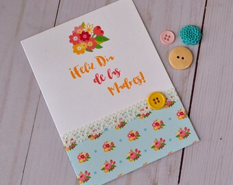 Spanish Mother's Day Card -  Happy Mother's Day - For Mom - Feliz Dia de Las Madres
