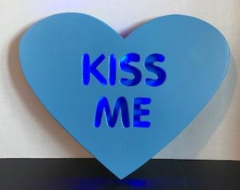 Kiss Me Conversation Heart Sign