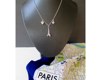 EIFFEL TOWER Pendant Necklace And Ladies Head Scarf Of PARIS Street Map * Bandana