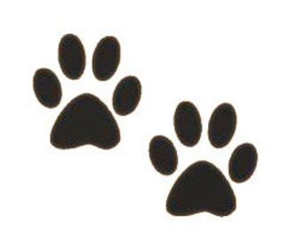 DIY Set of Doggy Paw Prints Vinyl Decal, Dog Owner, Car Window Decal, Laptop Decal, Tablet Decal, Cell Phone, Yedi Cup Decal