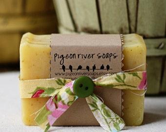 Summer's Song Bar Soap -  Natural Cold Process Soap - Lemon, Grapefruit, Orange & Cedarwood Bar Soap - Handmade Vegan Soap