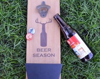 Beer Season Mounted Bottle Opener
