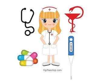 nursing clip art set hospital healthcare nurse and doctor rh etsy com hospitality clip art hospitality clip art free