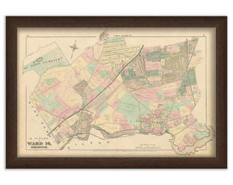 Map of Part of Dorchester - 1874 Ward 16 Plate Q. - 0097