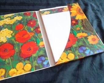 Vintage Hallmark Floral Border Stationery and Envelopes, 32 Sheets and 16 Envelopes, NIP, Oringinal Portfolio
