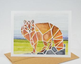 Watercolor Fox - Greeting Card