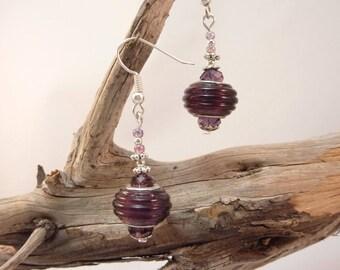 """""""gentle purple"""" Silver earrings jewelry"""