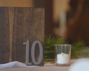 Table Numbers / Reclaimed Wood / Wedding