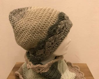Wool hat plus neck warmer