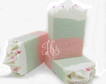 Sweet Pea Handmade Soap ~ Natural Handmade Soap | Coconut Milk Soap | Homemade Soap | Vegan Soap | Gift For Her | Teen Gift
