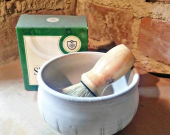 Shaving bowl with brush and soap included