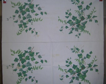 1950s PRINT KITCHEN TABLECLOTH - Widenuer Ivy