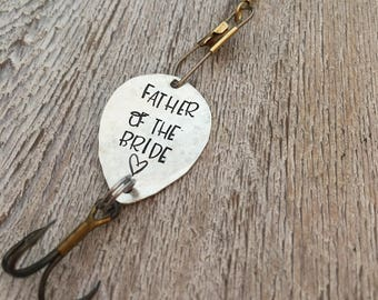 Personalized Fishing Lure - Father of the Bride  - Wedding - Dad Gift - Gift for Him - Fishing - Gift to Daddy