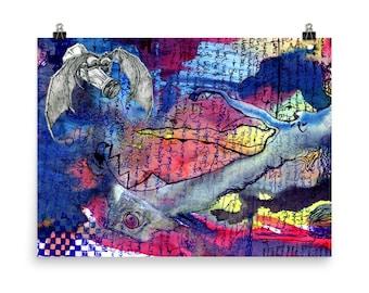 Abstract Art Poster Funky Art for Dorm Room Gift for Teen Gift for College Student Dorm Room Decor Graffiti Art Modern Art Poster Crazy Art