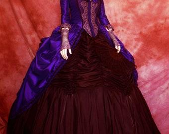 "ATELIER COCON Manteau Overcoat Early Period Victorian Western ""Sissi"" Rococo WGT Dress Costume Taffeta Violet for Tournine Crinoline Poschen"
