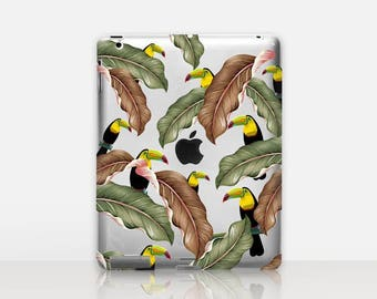 Floral Toucan Transparent iPad Case For - iPad 2, iPad 3, iPad 4 - iPad Mini - iPad Air - iPad Mini 4 - iPad Pro