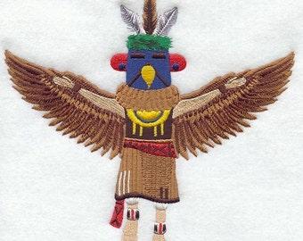 EAGLE KACHINA DOLL - Machine Embroidered Quilt Block(AzEB)