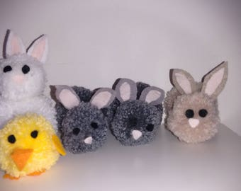Pompom Bunnies and Chick