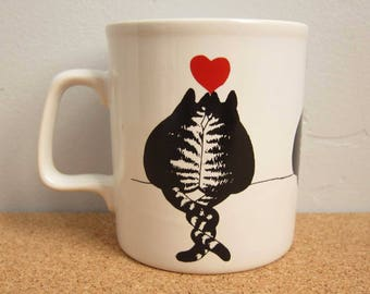 Vintage B. Kliban Cats in Love Coffee Mug - 1979 Kiln Craft England Funny Cute Collectible Cooking Cat Coffee Cup