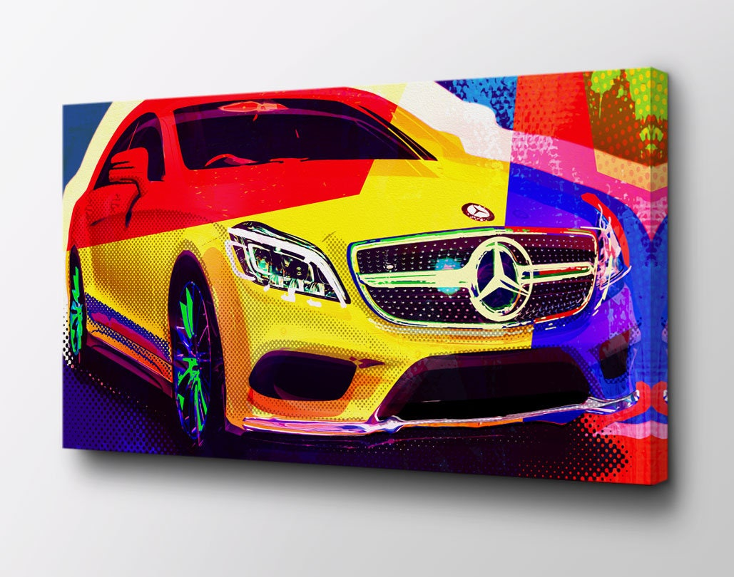 Mercedes CLS AMG Mercedes Benz Canvas Art Original design