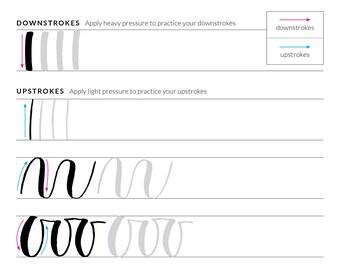 Brush Lettering Practice Sheet (Downloadable PDF)