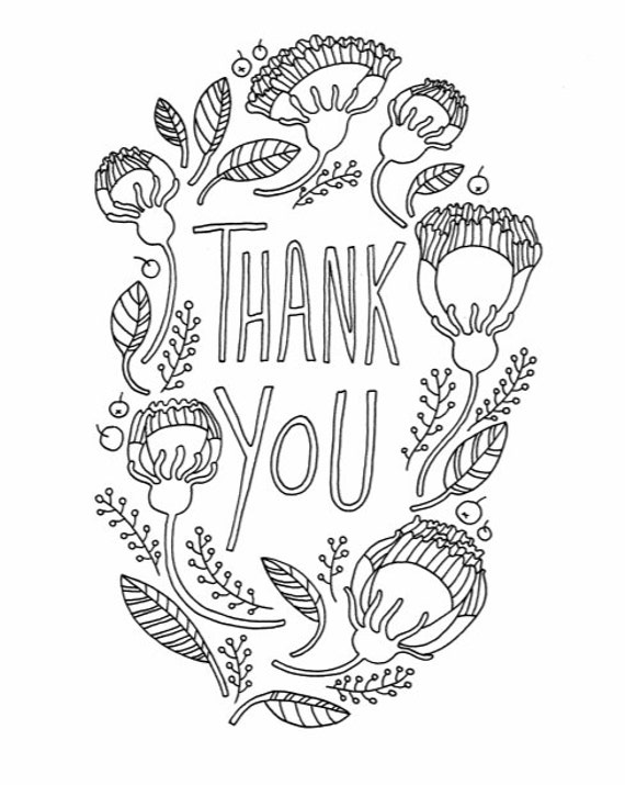 DIY Thank You Card For Fathers Day Adult Coloring Page