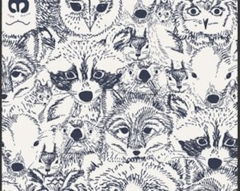 Woodland Baby Bedding - Fox Crib Sheet / Navy Nursery Bedding / Changing Pad Covers / Mini Crib Sheets / Baby Sheet by Babiease