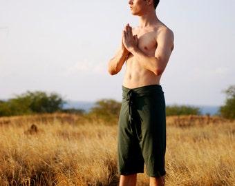 Men's Yoga Shorts - Long Shorts -  Eco Friendly Jersey - Organic Clothing