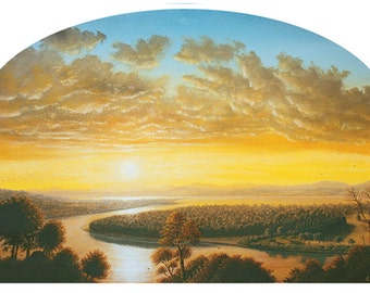 FREE SHIPPING The Golden Hour - Fine Art Greeting Card (blank inside)