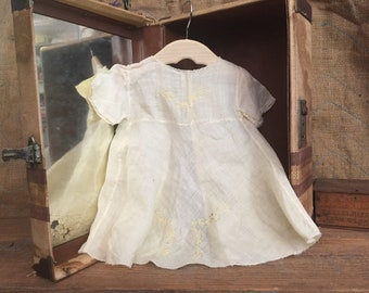 Old Linen Baby Dress