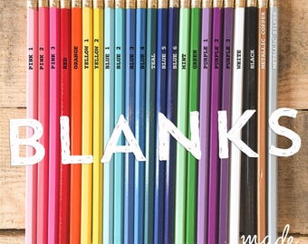 Blank Pencils By The Dozen, You Pick! Fun Gift, Bright Colors, Birthday Party Favors, School Team Spirit, Drawing Journaling Office Supplies