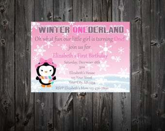 Winter Onderland Birthday Party Invitation