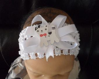 """Cat"" (0-4 years old) baby headband"