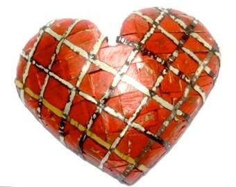 LARGE Recycled Wood Heart Rustic Folk Art