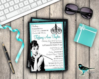 Breakfast at Tiffany's Invitation