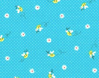 Lecien Fabrics - Minny Muu Fall 2016 Tiny Flowers and Bees by Koko Seki